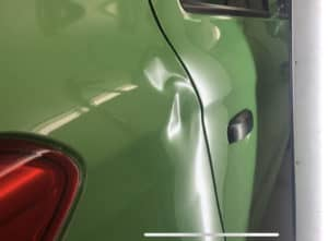 Paintless Dent repair quarter panel dent